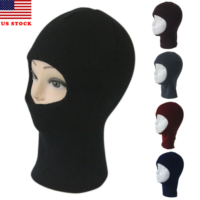 2019 Winter New Fashion Face Mask Ski Winter Hat One Hole Balaclava Hood Beanie Tactical Warm Solid Casual Hat