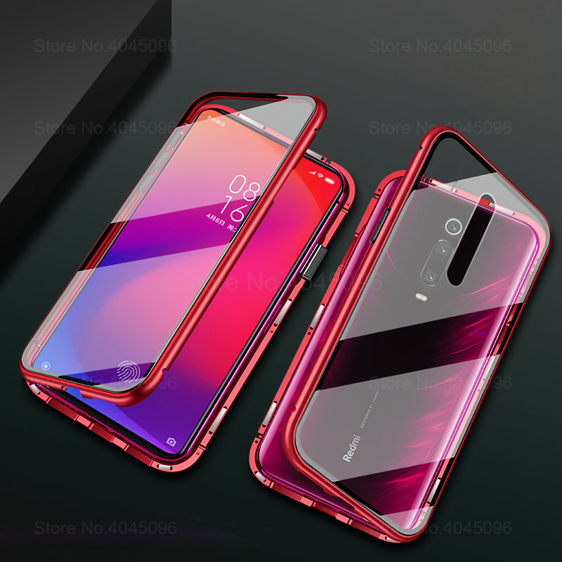 360 Magnetic Phone Case For xiaomi mi 9t Double Sided Glass Cases On Xaomi 9t pro mi 9t 9tpro t9 t9pro mi9t Metal Cases Coque image