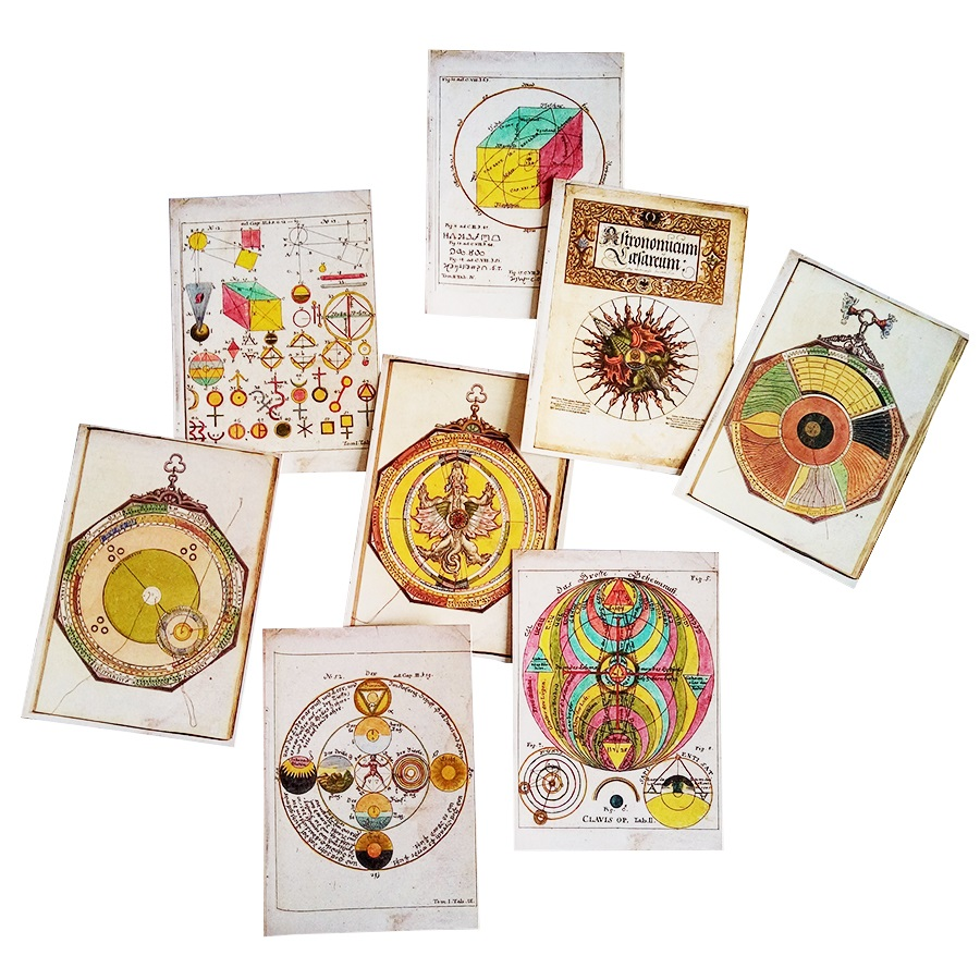 16 Pcs/lot Restoring Ancient Ways Astrolabe Style Postcard Decoration Card Greeting Card