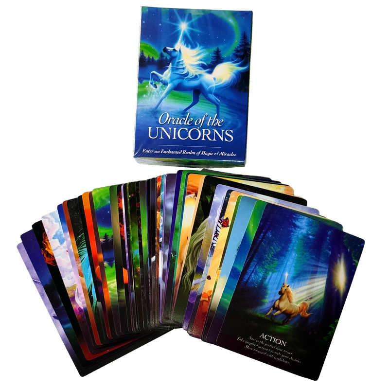 2019 Baru Membaca Nasib Lenormand Oracle Kartu Misterius Keberuntungan Kartu Tarot Permainan untuk Ramalan Nasib Unicorn Oracle Kartu FT014