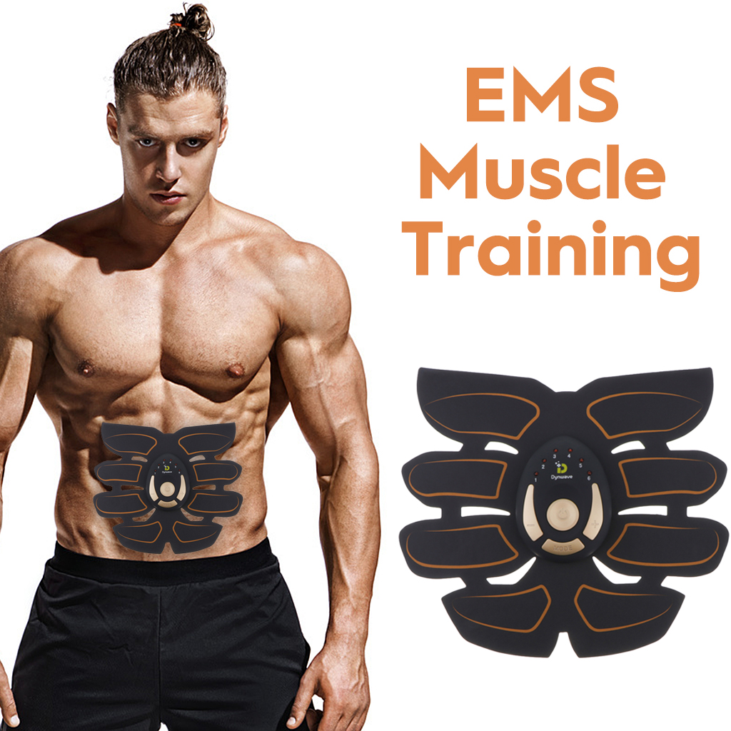 6/8Pads Abs Stimulator Men Women Ems Muscle Trainer Ems Body Arm Buttock Stimulator Home/Gym/Office Ab Trainer Fitness Equipment