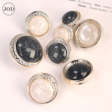 Pearl Fashion Coat Button for Clothing Ladies Suit Buttons Plastic Women Clothes Buckle Retro Decorative Sewing Accessories CC