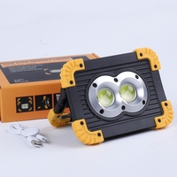 20W Led Portable Spotlight Super Bright Led Work Light Rechargeable For Outdoor Camping Lampe Led Floodlight
