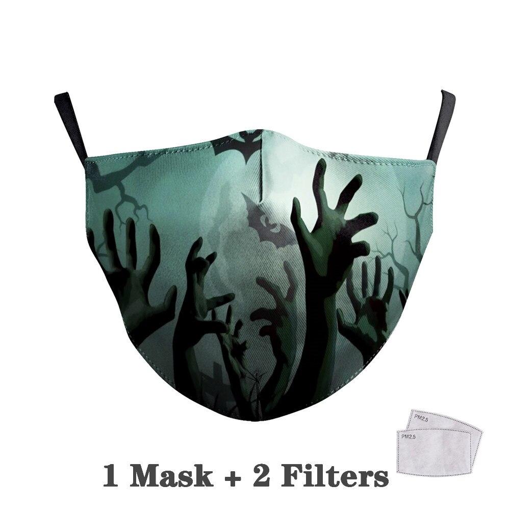 Washable Big Mouth Skull Face Masks 40
