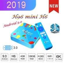 купить The latest Android 9.0 tv box H96 mini H6 smart TV set-top box USB3.0 6K HD media player support European subscription iptv по цене 2271.78 рублей