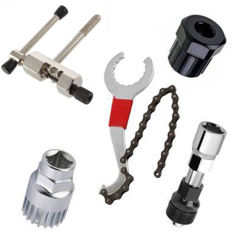Bicycle Chain Removal Bracket Remover Freewheel Remover Crank Puller Remover Tool Mountain Bike Repair Tool Kit Set