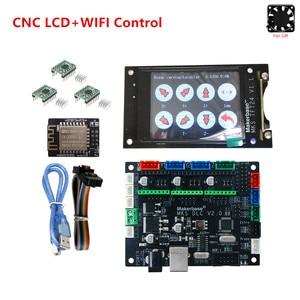 Image 1 - GRBL V1.1 expansion plate MKS DLC v2.0 motherboard CNC offline LCD display replace cnc shield v3 UNO R3 CNC 3018 PRO upgrade kit