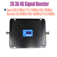 ZQTMAX 2G 3G 4G mobile signla amplifier 900 1800 2100 Tri Band signal booster 75dB LTE UMTS GSM DCS WCDMA Repeater