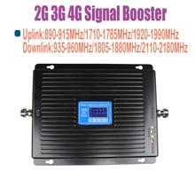 ZQTMAX 2G 3G 4G 모바일 signla 앰프 900 1800 2100 트라이 밴드 신호 부스터 75dB LTE UMTS GSM DCS WCDMA 리피터