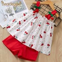Bear Leader Girls Clothing Set 2019 Summer Kid Clothes Set Cherry Pattern Girls Suit Toddler Girl Tops+Shorts Children Set недорого
