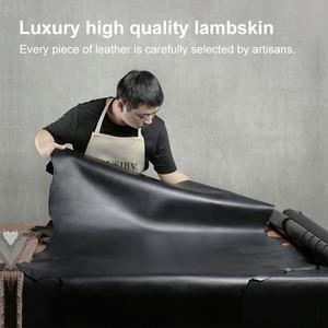 Image 5 - Womens Wallet Short 100% Sheepskin Leather Woven Coin Change Zipper Storage Bag Fashion Simple Luxury Brand MoneyClip2020 New