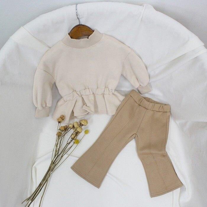 2021 Autumn Winter New Arrival Girls Fashion Flare Pants Kids Warm Fleece Pants 5