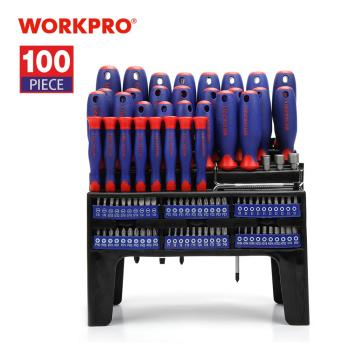 WORKPRO 100PC Screwdriver Set Home Tool Set Precision Screwdrivers for Phone Screw Driver