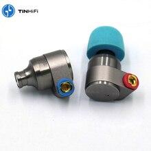 TINHiFi القصدير الصوت T2 محرك ثنائي معدن سماعات HiFi السلكية سماعات ديناميكية باس MP3 الموسيقى DJ سماعات Mmcx استبدال كابل