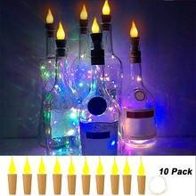 10 шт медная проволочная лампа свечные светильники в форме винных