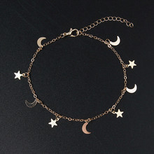 2021 nova moda ouro lua estrela pingente pulseira feminino acessórios pulseira presente 4g