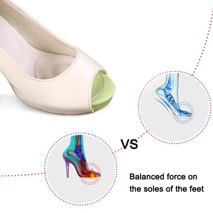 Sapatos de Salto Alto Antiderrapante Almofadas Protetoras DO99