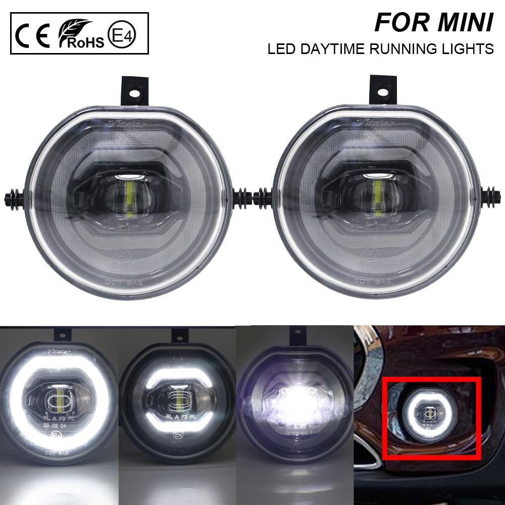 2X LED Daytime Running Light Fog LIGHT For Mini F55/F56 F54 Clubman F57