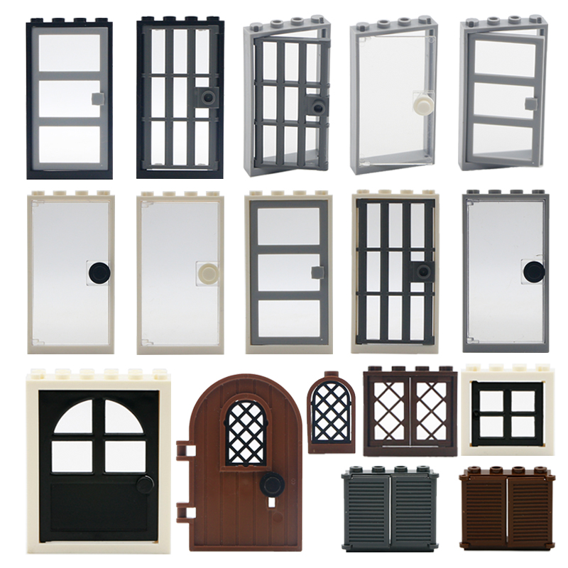 Friends House Parts Building Blocks Door Window Castle Hotel MOC Brick Assemble Bricks Toys Compatible Legoed City Accessories