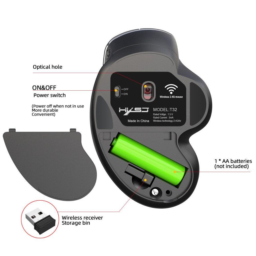 24g wireless mouse office game ergonomic grip comfort 3600dpi