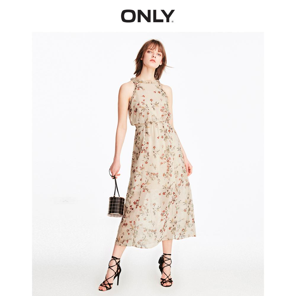 ONLY Women's Floral Cinched Waist Chiffon Dress | 119207529
