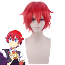 Anime SSSS.GRIDMAN Hibiki Yuta Red Short Cosplay Wig Heat Resistant Synthetic Hair Men Women Costume role play Wigs(China)