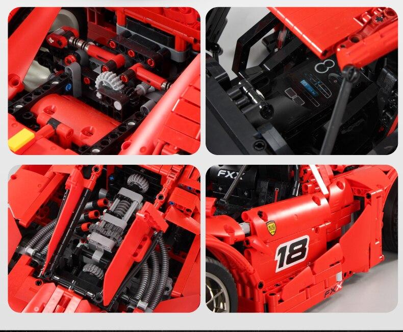 MOULD KING MOC 13085 Compatible 5889 Ferrari FXX F40 Enzo Building Block (2172 PCS) 9