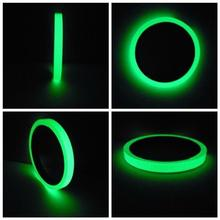 цена на 3/5/10M 10mm Luminous Tape Night Vision Glow In Dark Self-adhesive Warning Tape Safety Security Home Decoration Tapes