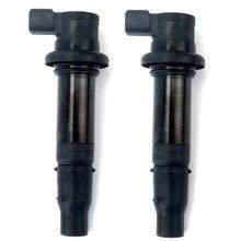 2 uds para motocicleta bobina de encendido para Yamaha R6 RJ15 Bj 2009 motor F6T558 F6T560 39P-82310-10-00 5PW-82310-00-00