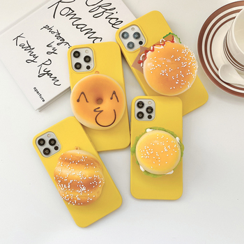 Bread Hamburger Phone Case For Huawei Nova 2 2i 2S 3 3i 4 5 5i 5T 5Z 6 7 SE Pro P Smart Plus Z Squeeze Stress Soft Holder Cover image