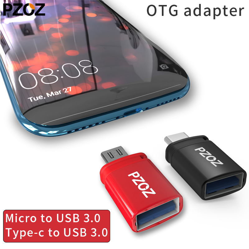 PZOZ Otg Adapter Type-c 3.0 Otg Micro Usb 3.0 Charge Data Converter Type C Microusb Type Usbc For Samsung One Plus 6 Android