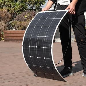Image 3 - 1PCS 16V גמיש פנל סולארי תאים סולריים מודול ערכת 110V 220V עבור 12V אטום/ג ל/עופרת חומצה/ליתיום סוללה מטען
