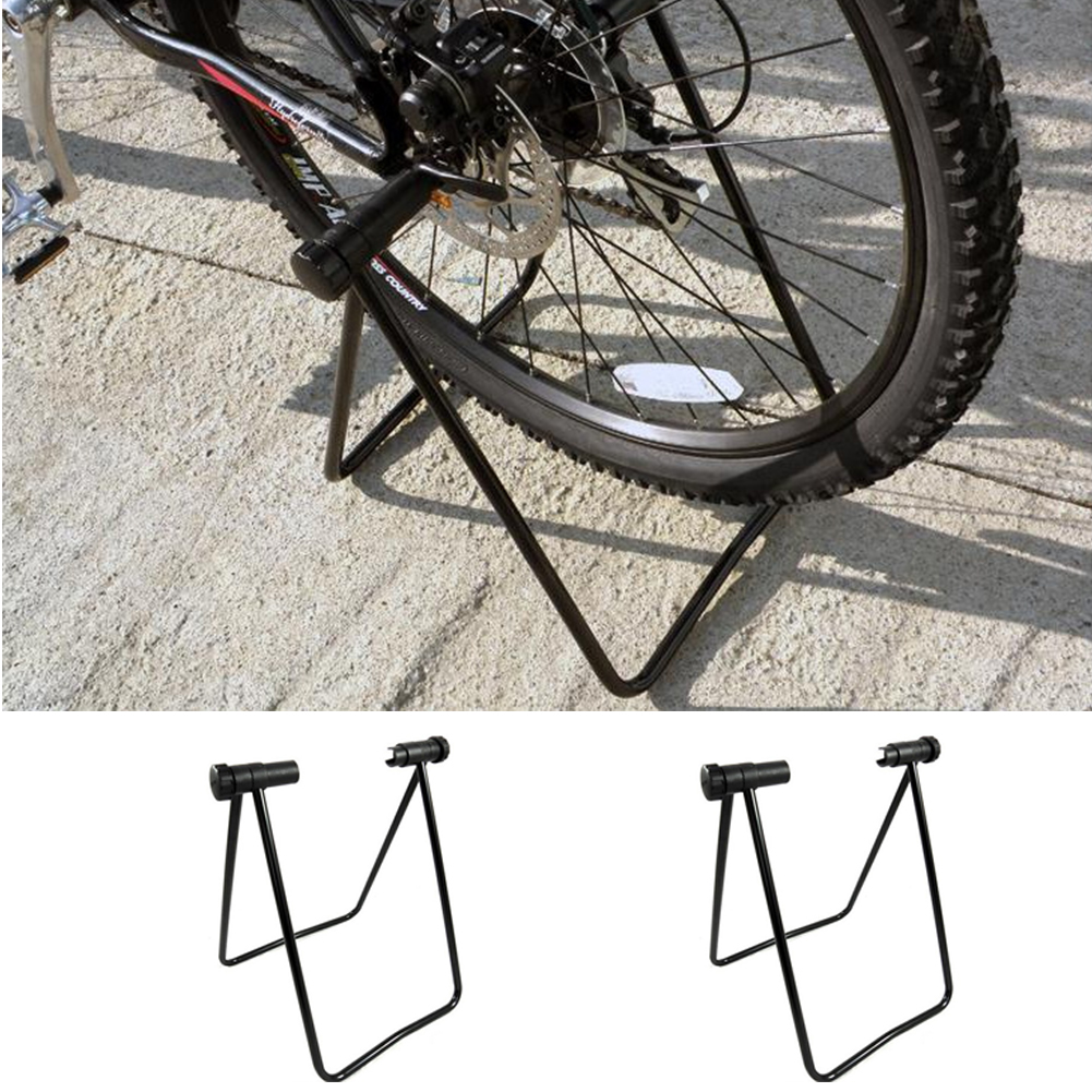U type Bike Cycling Support Bracket Adjustable Stand Side Bracket Fixed Gear Bicycle Alloy Parking Frame Bike Repair Rack|Bicycle Repair Tools| |  - title=