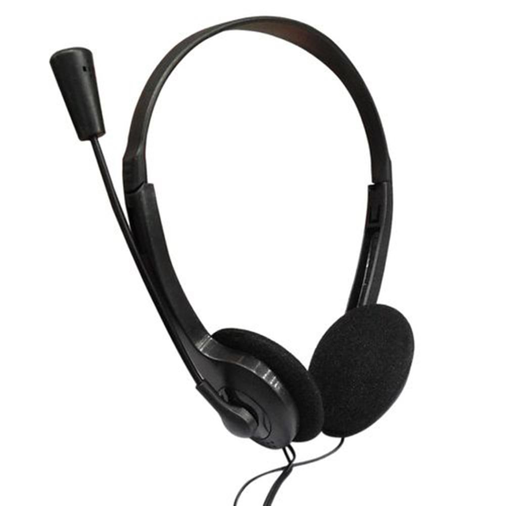 3.5mm Wired Over-Ear Headphone Stereo Headset with Microphone for PC Laptop with Mic computer Accessory