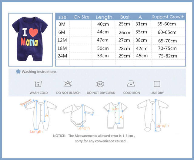 Baby Clothes Short Sleeve One Piece Summer Unisex