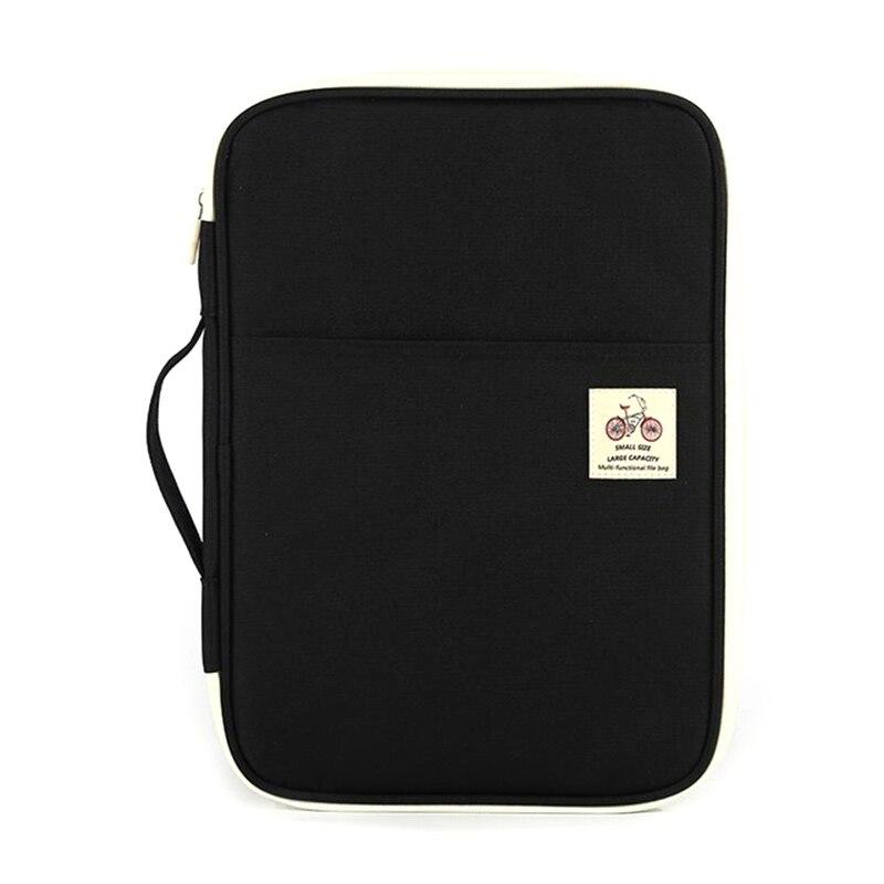 Multi Function A4 File Bag Portable Zipper Desk Accessories Office Supplies Organizador Escritorio Desk Organizer
