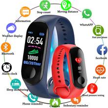 Nowy smart Watch mężczyźni kobiety tętna Monitor ciśnienia krwi smartwatch fitness z nadajnikiem Sport zegarek dla ios android Sport zegarki tanie tanio GIMSR QUARTZ Klamra 5Bar RUBBER 25cm 11mm 20mm Rectangle Kwarcowe Zegarki Na Rękę Papier Silikon Stoper Podświetlenie