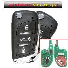 Livraison gratuite (5 pièces/lot) keybricolage KD télécommande NB11 3 boutons clé à distance avec modèle de NB ATT 36 pour Peugeot,Citroen,DS ETC.