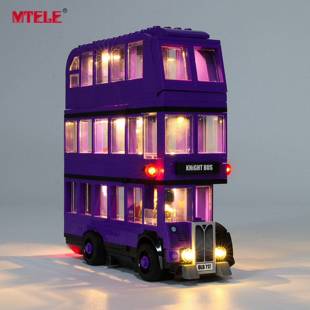 MTELE Brand LED Light Up Kit For The Knight Bus Lighting Set Compatile With 75957 (NOT Include Model)