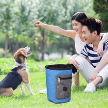 Pet Feed Pocket Pouch Puppy Snack Reward interactive Waist Bag Pet Dog Pouch Dog Training Treat Bags Portable Detachable Doggie(China)