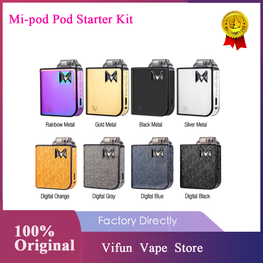 Original Mi-pod Pod Starter Kit Wi/ 950mAh Battery & 2ml Cartridge & First OAS System Leakage Proof Pod Kit Vs Drag Nano / VINCI