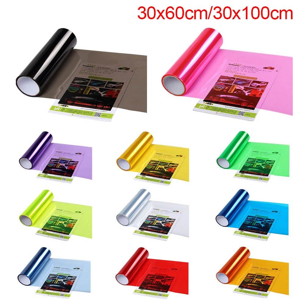Car Light Sticker 30x60cm/30x100cm Vinyl Car Wrap Car-styling Auto Tint Headlight Self Adhesive Car Smoke Fog Light Taillight
