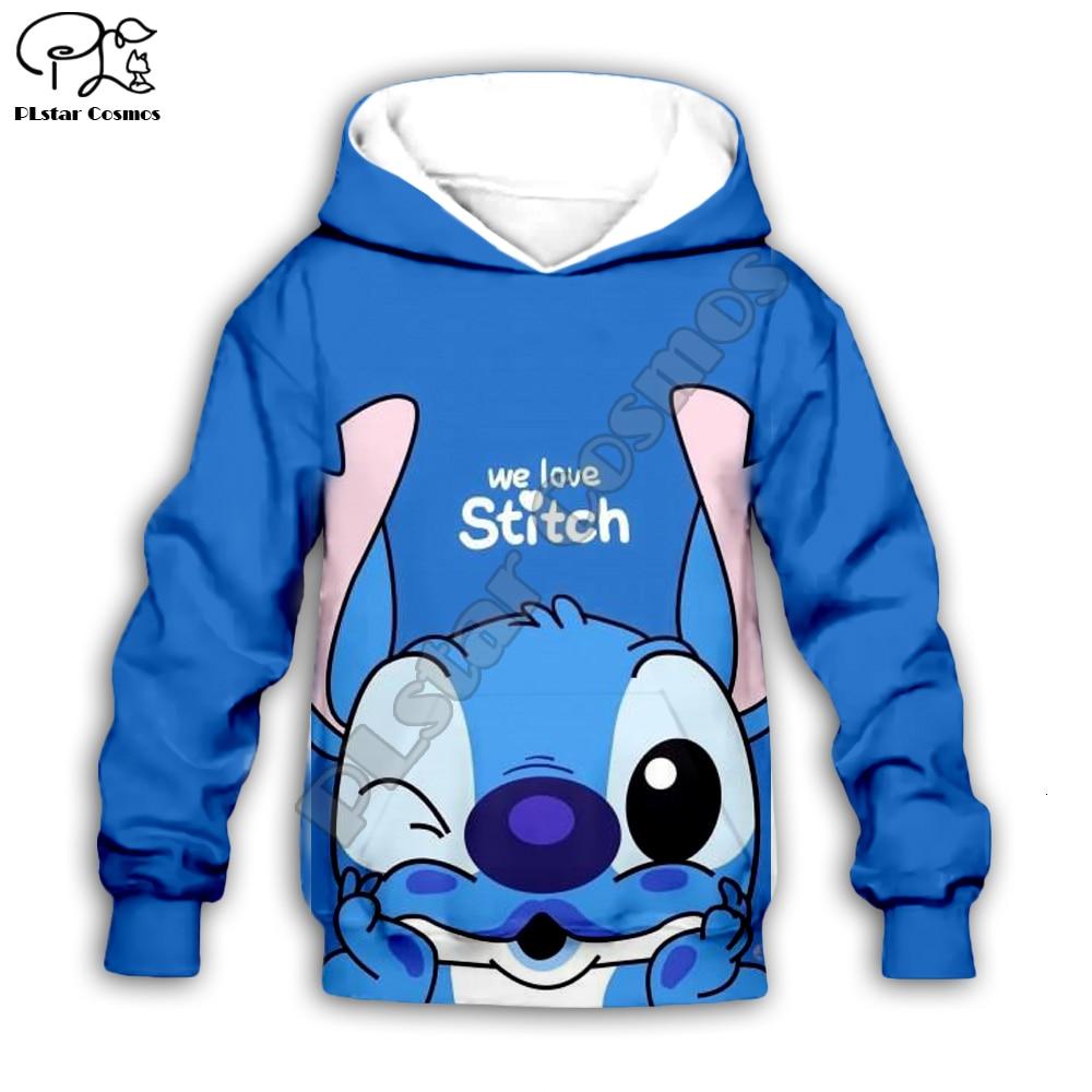 Kids Cloth Anime Kawaii Lilo Stitch 3d Hoodies/boy Sweatshirt Cartoon Hot Movie Style-7