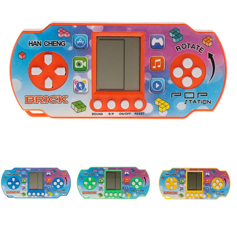 26Games Colorful Retro Classic Childhood Tetris Handheld Game Players LCD Electronic Toys Game Console Fidget Toy Kids Toy Gif