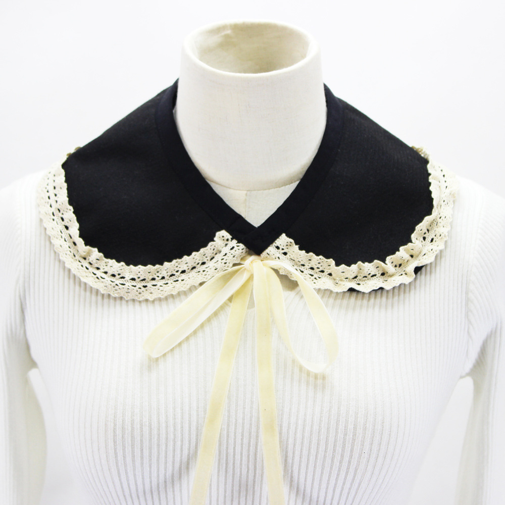 Woolen False Collar Sweater Loose Coat Decoration Lace Doll Dickie Detachable New Free Shipping Shirt Women