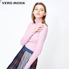 Vero Moda סתיו 100% צמר Slim Fit מינימליסטי סרוג בסיס גולף סרוג סוודר נשים   318324522