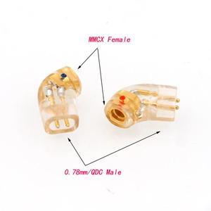 Image 2 - Spina per cuffie QDC placcata oro coppia Haldane per adattatore convertitore QDC maschio a MMCX 0.78mm femmina