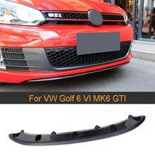 Спойлер для переднего бампера автомобиля из углеродного волокна для Volkswagen VW Golf 6 MK6 GTI 2010-2013 Черный FRP передний бампер для губ