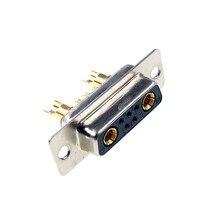 D conector Sub 30 AMP Actual 7 posición 5 + 2 Combo receptáculo hembra clavija mecanizada 7W2 oro montaje en Panel de alambre de soldadura
