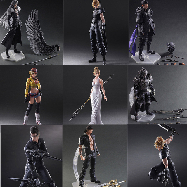 Final Game Fantasy Play Arts Kai Action Figure Sephiroth Cloud Strife Noctis Lucis Cindy Aurum Squall Leonhart Figures Toy Doll